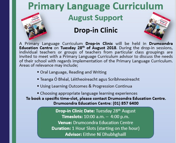 PLC Flyer Drop in clinic
